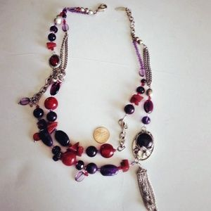 Gemstone and Beads Necklace Coldwater Creek VTG